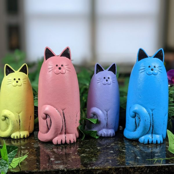 Cat Garden Statues in NEW Spring Pastel Colors